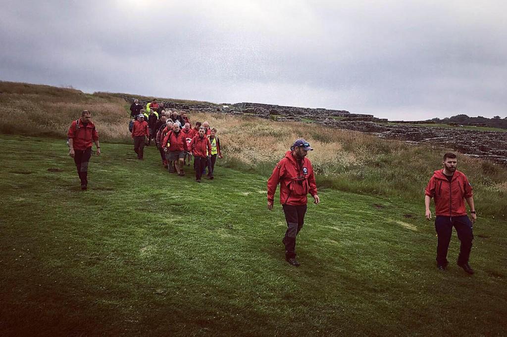 Rescuers at one of the incidents on Hadrian's Wall. Photo: Northumberland NPMRT