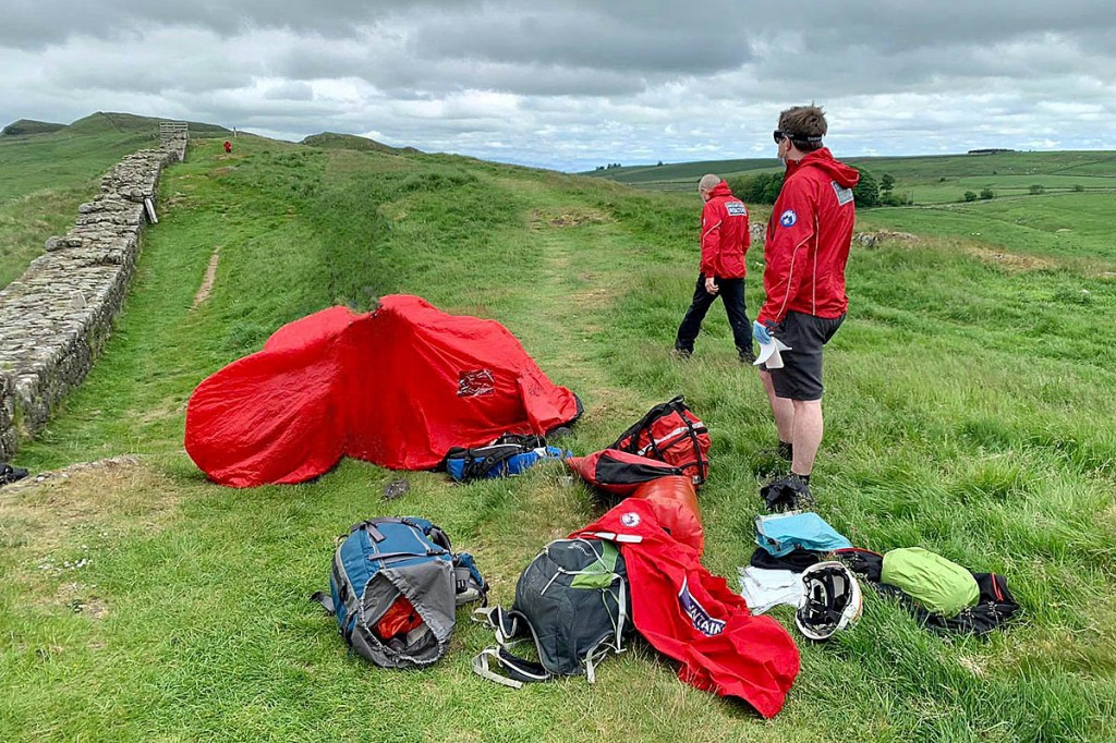 The rescue scene on Hadrian's Wall. Photo: NNPMRT