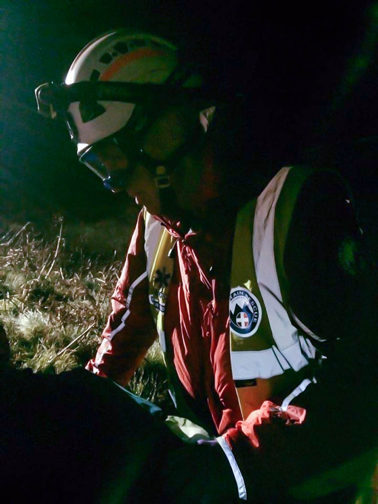 The rescue scene in the Harthope Valley. Photo: Northumberland National Park MRT