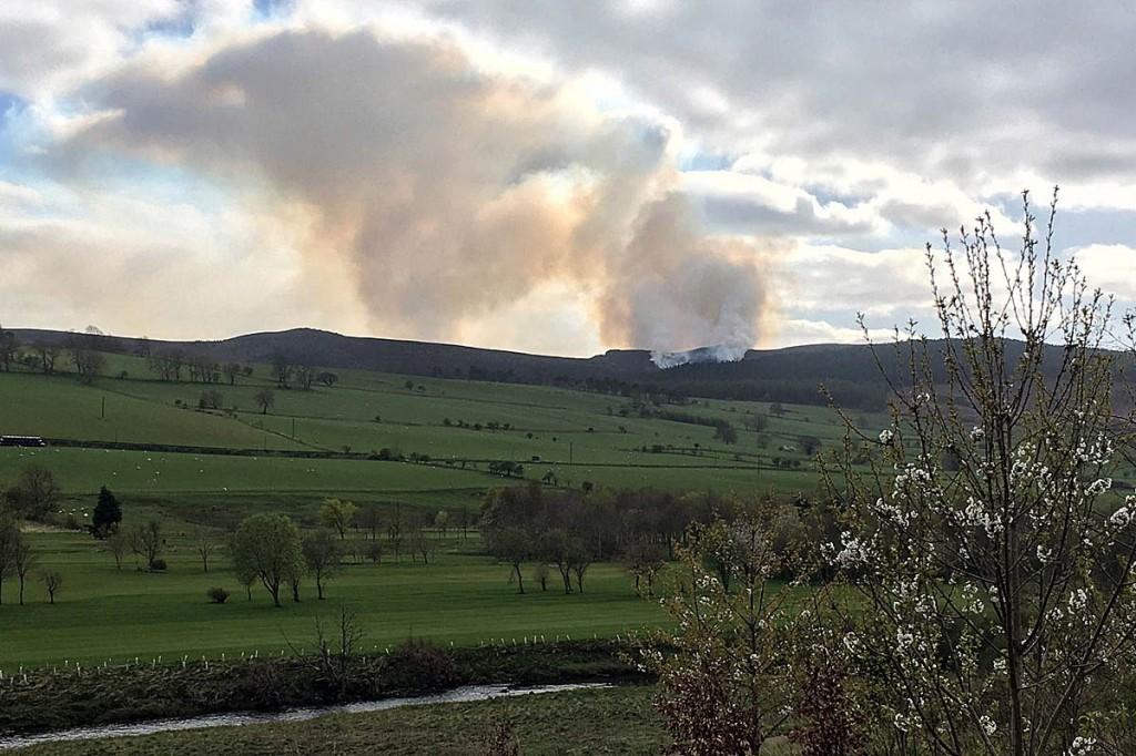The wildfires on Simonside. Photo: NNPMRT