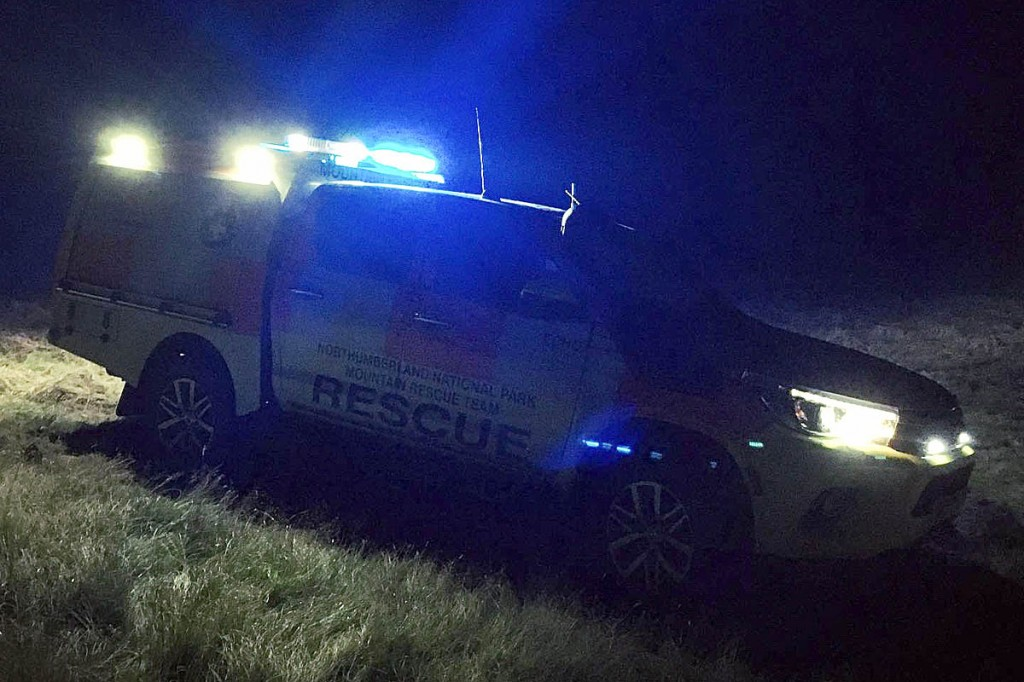The Northumberland team vehicle at the rescue scene. Photo: NNPMRT