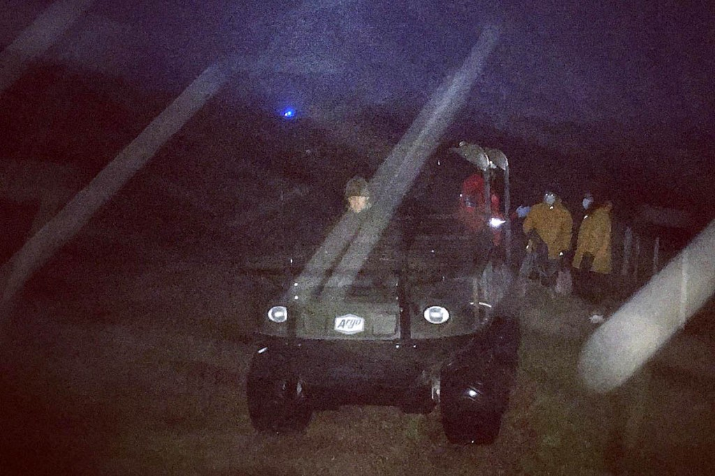 The gamekeeper helped by transporting team members in an all-terrain vehicle. Photo: NNPMRT