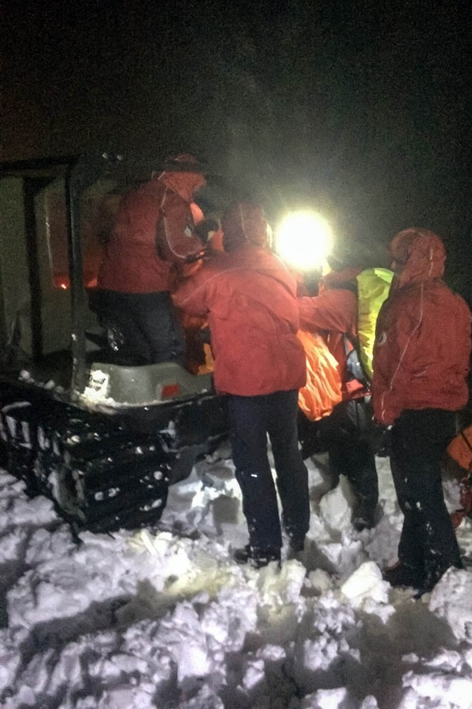 Farmers helped rescuers by making their specialised all-terrain vehicles available. Photo: Northumberland NPMRT