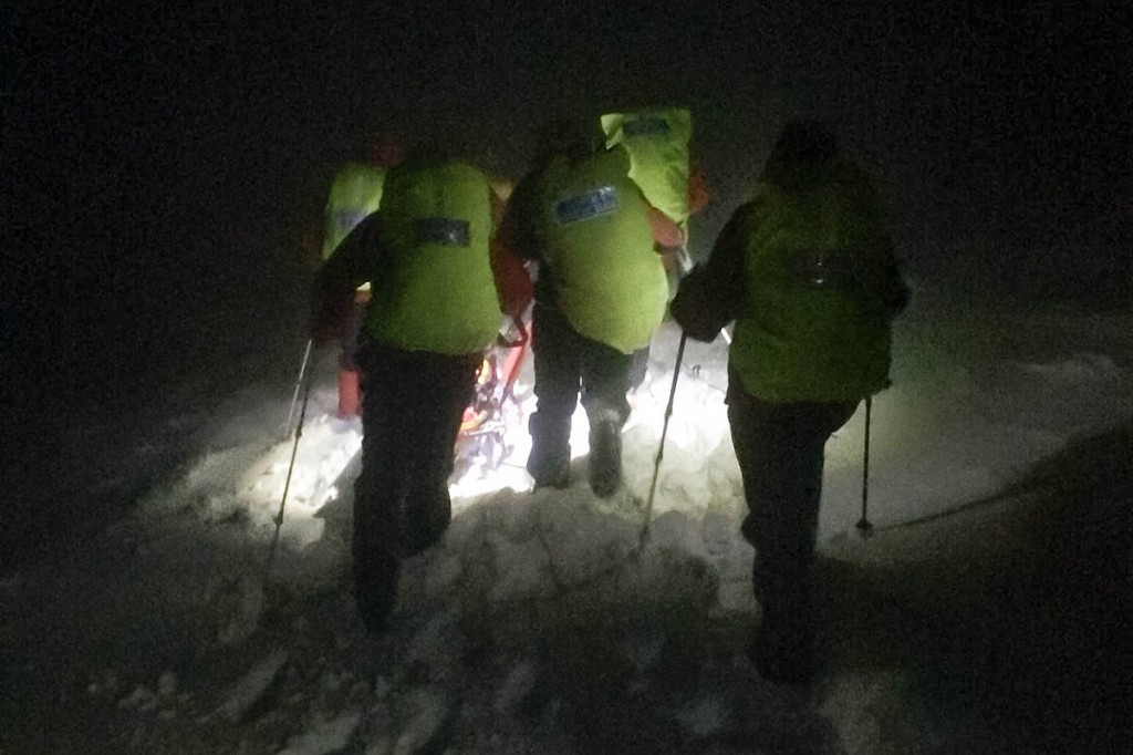 Rescue team members faced difficult winter conditions. Photo: Northumberland NPMRT