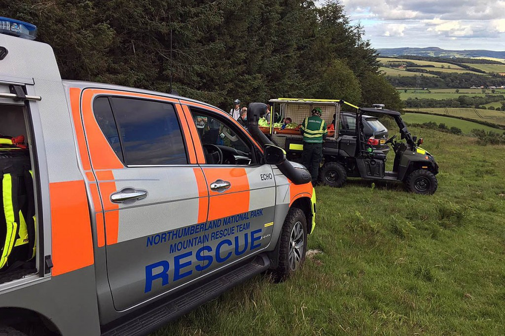 The rescue scene at Wooler Common. Photo: NNPMRT