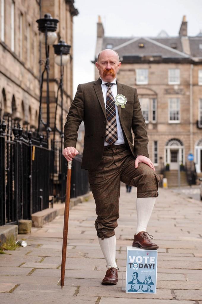 Sir Hugh Munro is played by David McKinnon, NTS corporate development manager, Edinburgh. Photo: Callum Bennets/Maverick Photo Agency