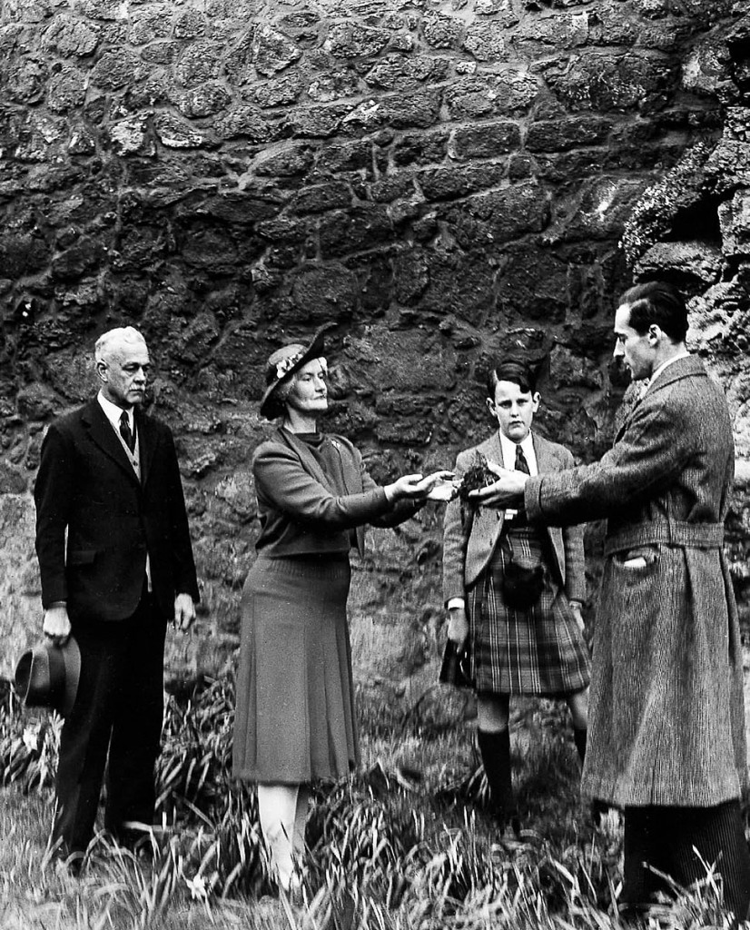 A young Tam Dalyell looks on as his family home is formally gifted to the National Trust for Scotland. Photo: NTS