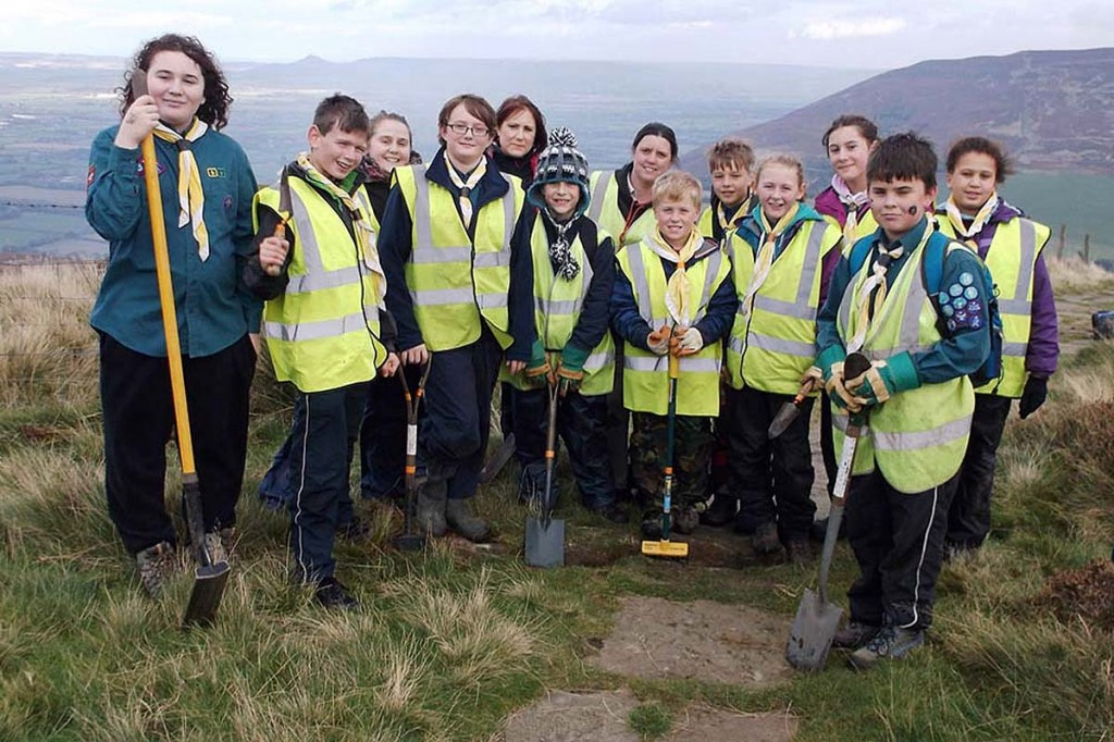 Volunteers from the 1st Marston Moor group on the Cleveland Way. Photo: Tammy Andrews
