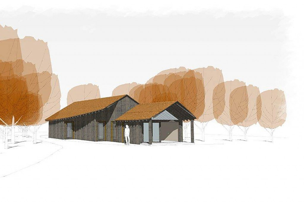 An impression of how the Lake Head toilets will look. Image: National Trust/Crosby Granger Architects