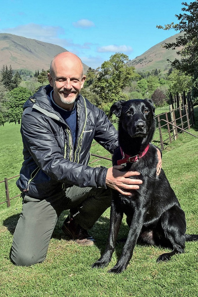 Jeremy Barlow with his dog Sam. Photo: National Trust images
