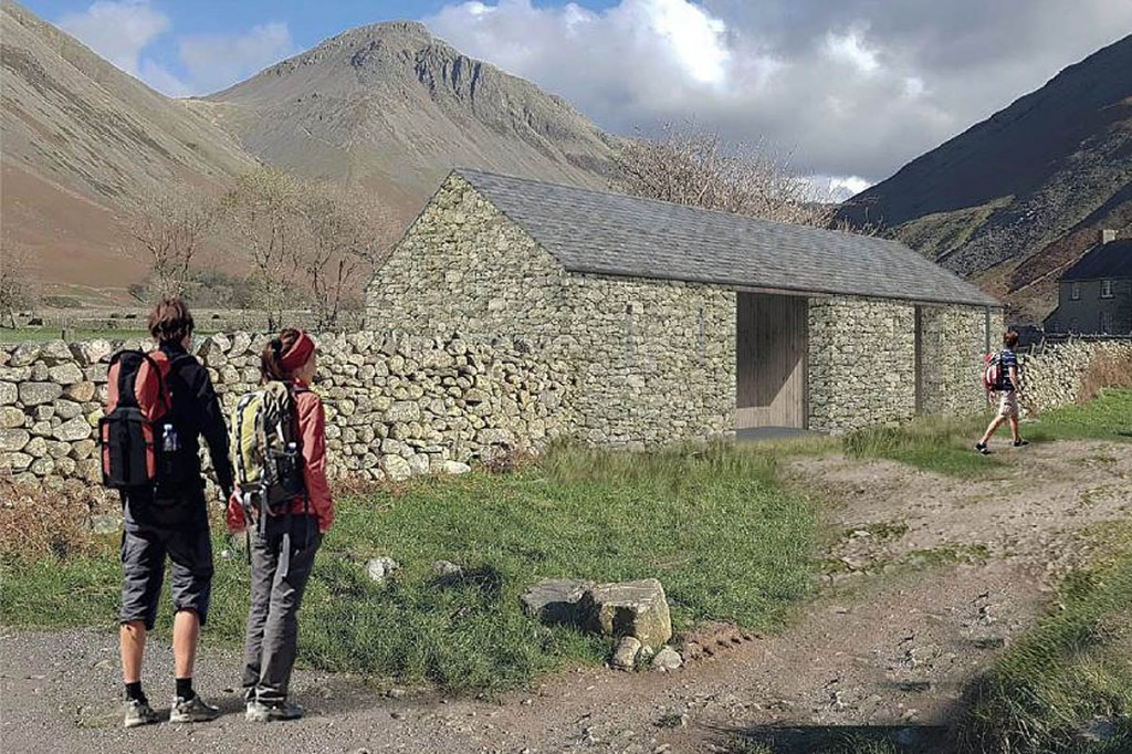 An impression of how the proposed Wasdale Head block will look. Image: National Trust