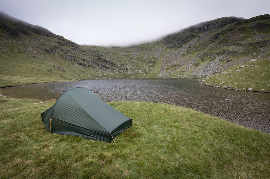 The Nordisk tent withstood some rough Lakeland weather. Photo: Bob Smith/grough