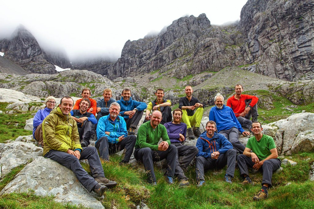 The team that took part in last year's survey. Photo: D MacLeod