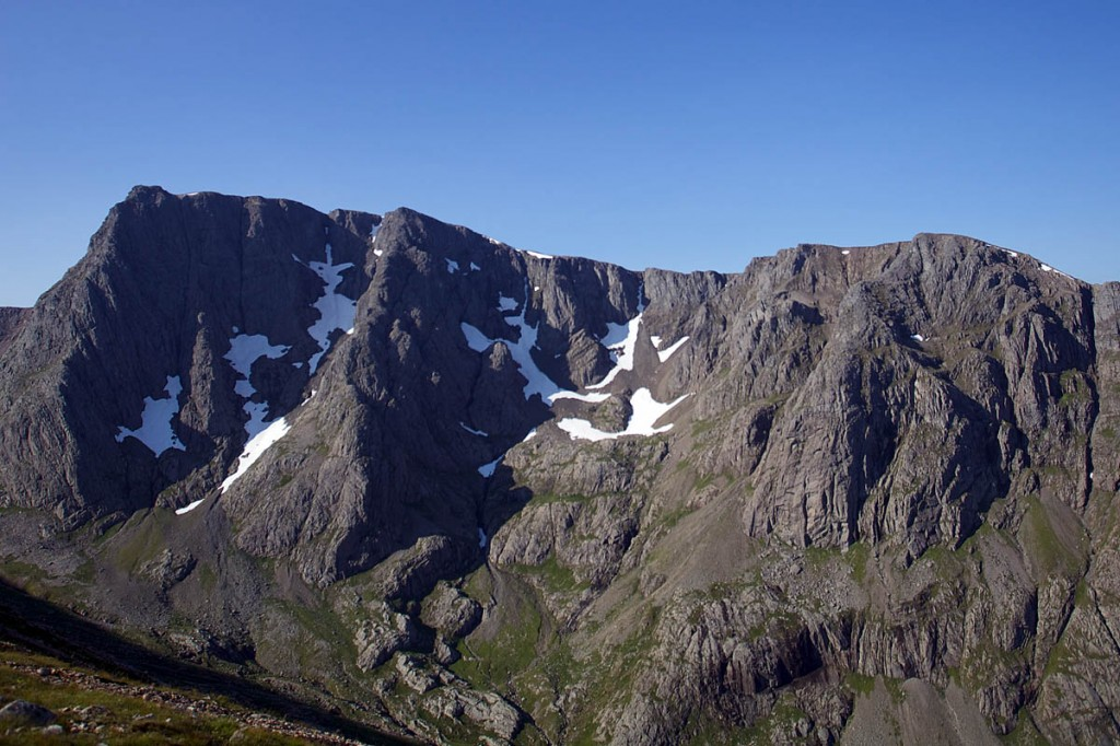 The North Face of Ben Nevis. Photo: D MacLeod