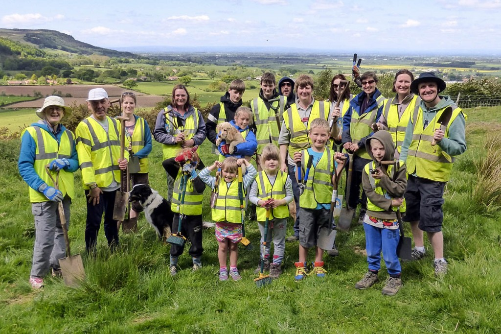 North York Moors Explorer Club with their new tools