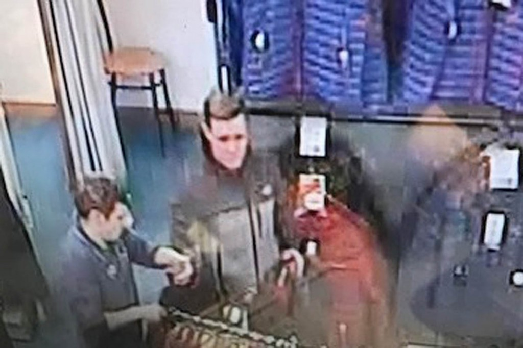 A still from the store's CCTV