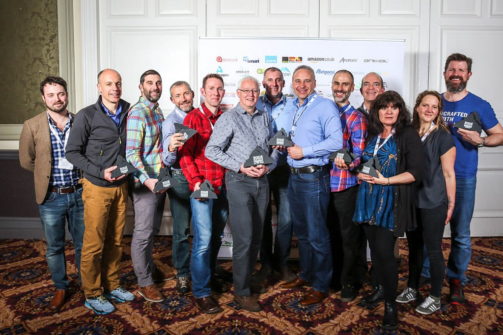 Category winners show off their awards at the OIA event