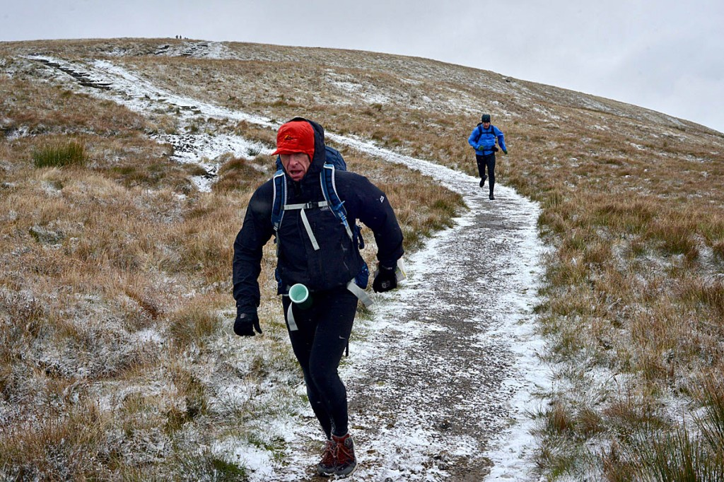 Sub-zero temperatures tested runners. Photo: OMM