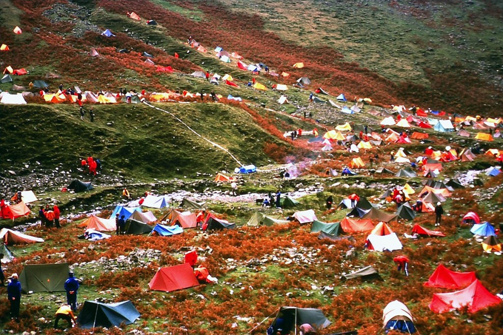 The mountain marathon camp in 1977