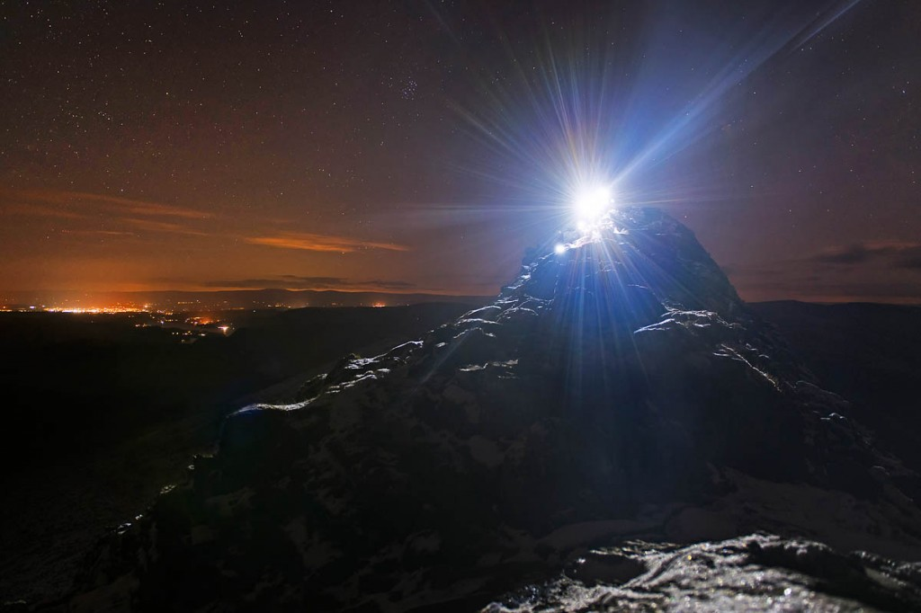 Participants tackle Striding Edge by night. Photo: Nick Landells/Lakeland Photo Walks