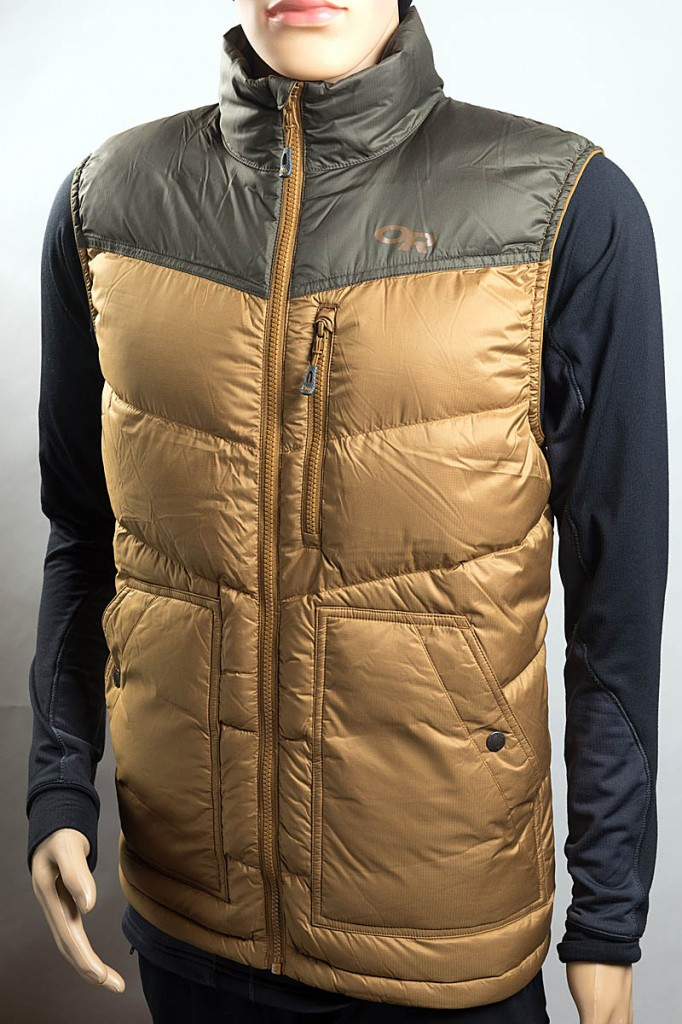 Outdoor Research Transcendent Down Vest. Photo: Bob Smith/grough