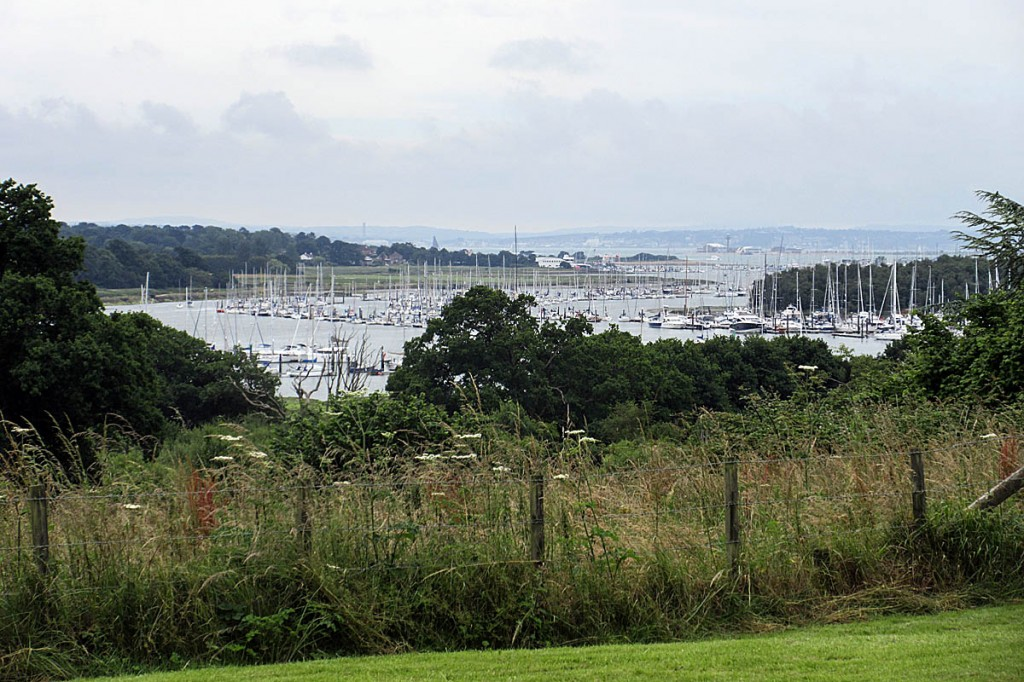 The view of the estuary from the campaigners' preferred route at Bursledon. Photo: Ian Underdown