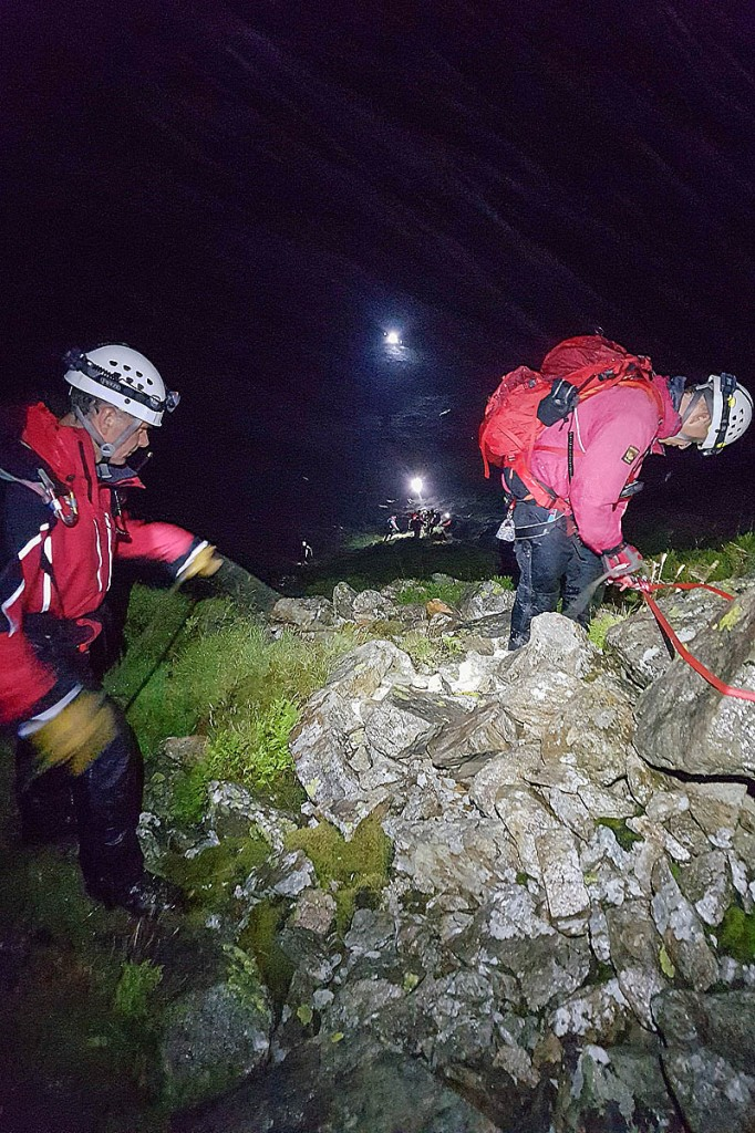 The rescue scene on Craig yr Ysfa. Photo: Karl Lester/OVMRO