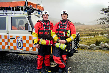 Ogwen Valley Mountain Rescue Organisation members will take a dip in their nearest lake