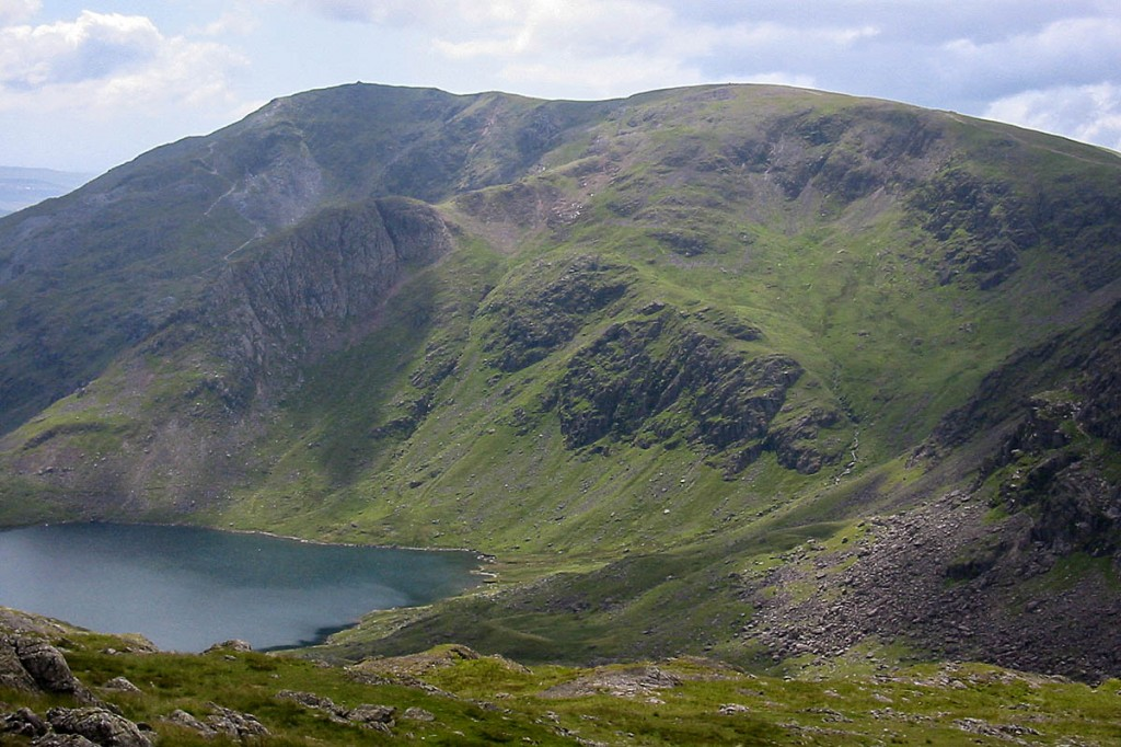 The man fell from the crag above Levers Water. Photo: Bob Smith/grough