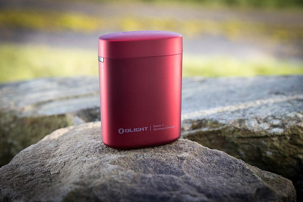 The Olight Baton 3 Premium Edition charging case. Photo: Bob Smith/grough