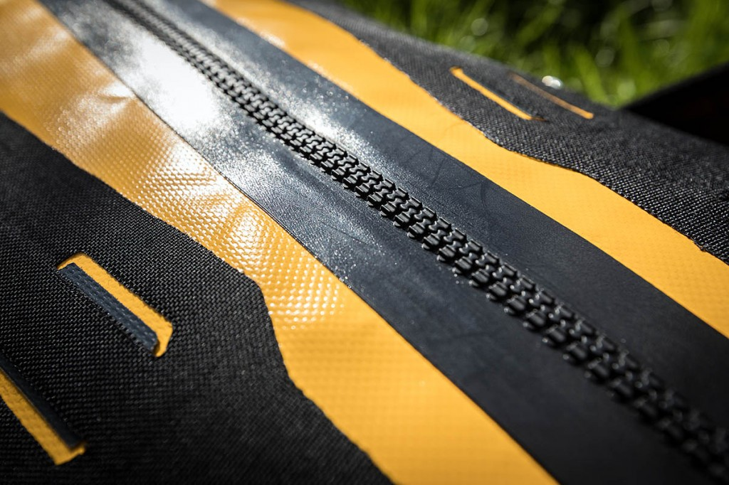 The Tizip on the Ortlieb bag. Photo: Bob Smith/grough