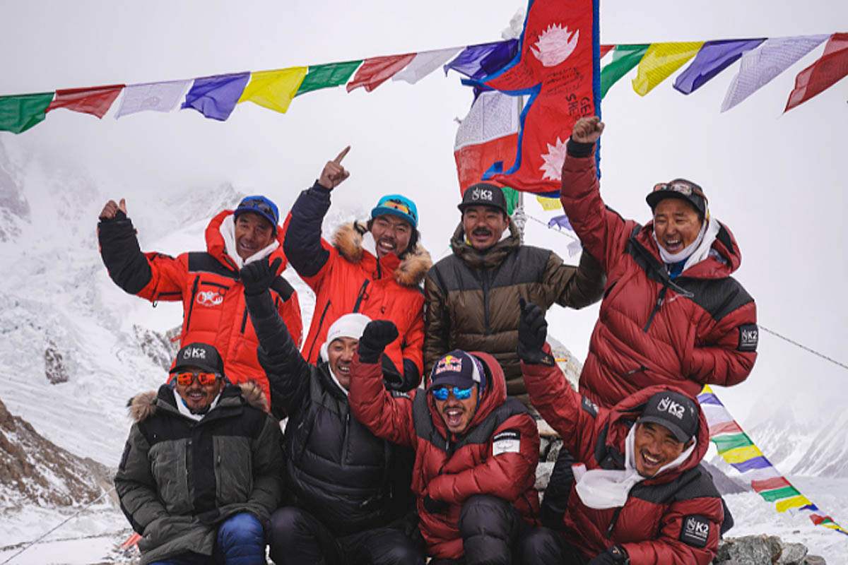 Nepali mountaineers scale K2 in record first winter ascent