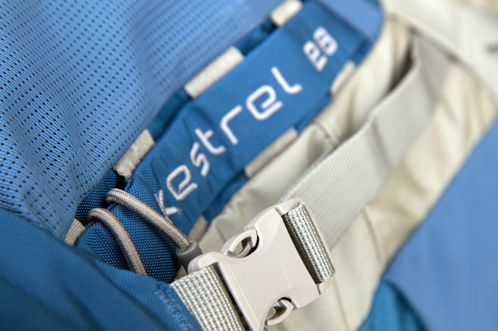 Detail on the Osprey Kestrel pack