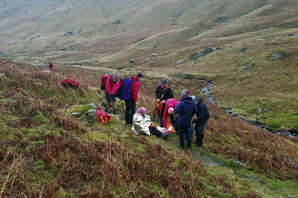 The rescue scene in Caiston Glen. Photo: Patterdale MRT