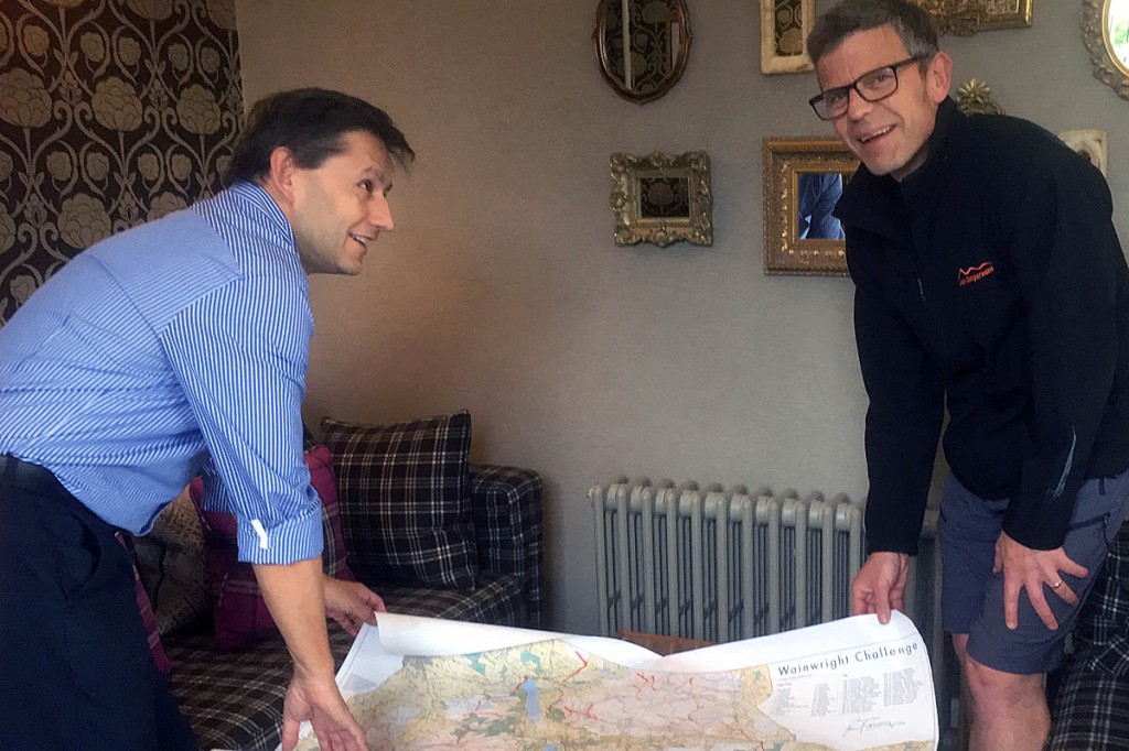 Jonathan Kaye and Nigel Braithwaite with the map