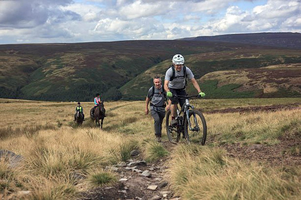 Cut Gate bridleway is a popular route for walkers, cyclists and horse riders. Photo: Peak District NPA