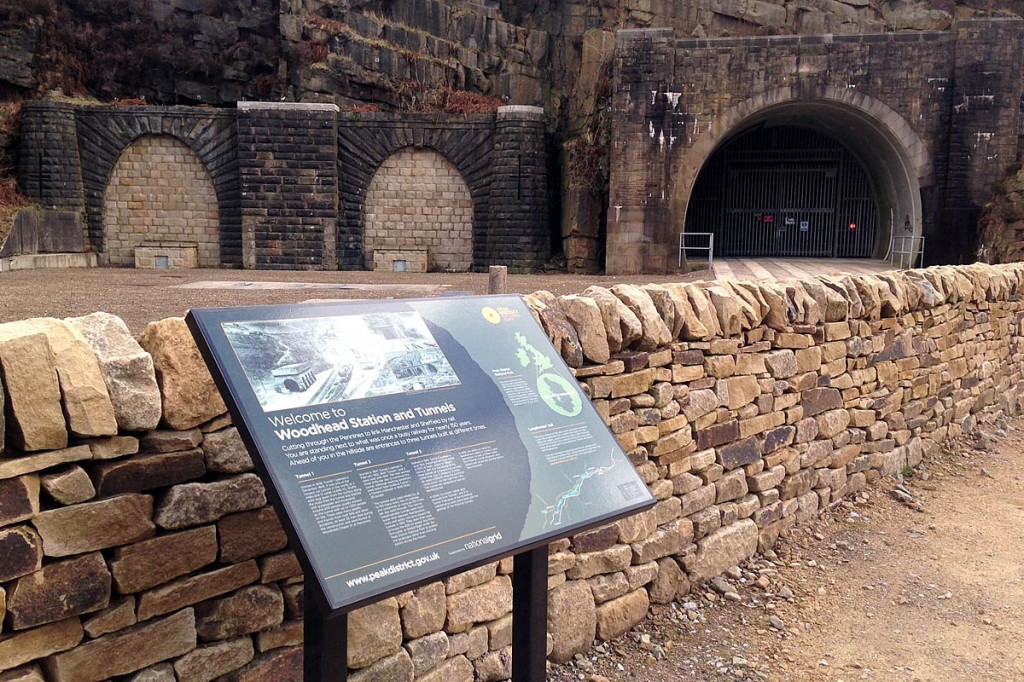 The new interpretation board at the Woodhead site. Photo: Peak District NPA