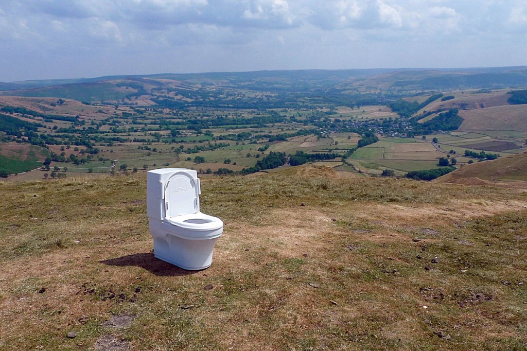 The loo with a view on top of Mam Tor