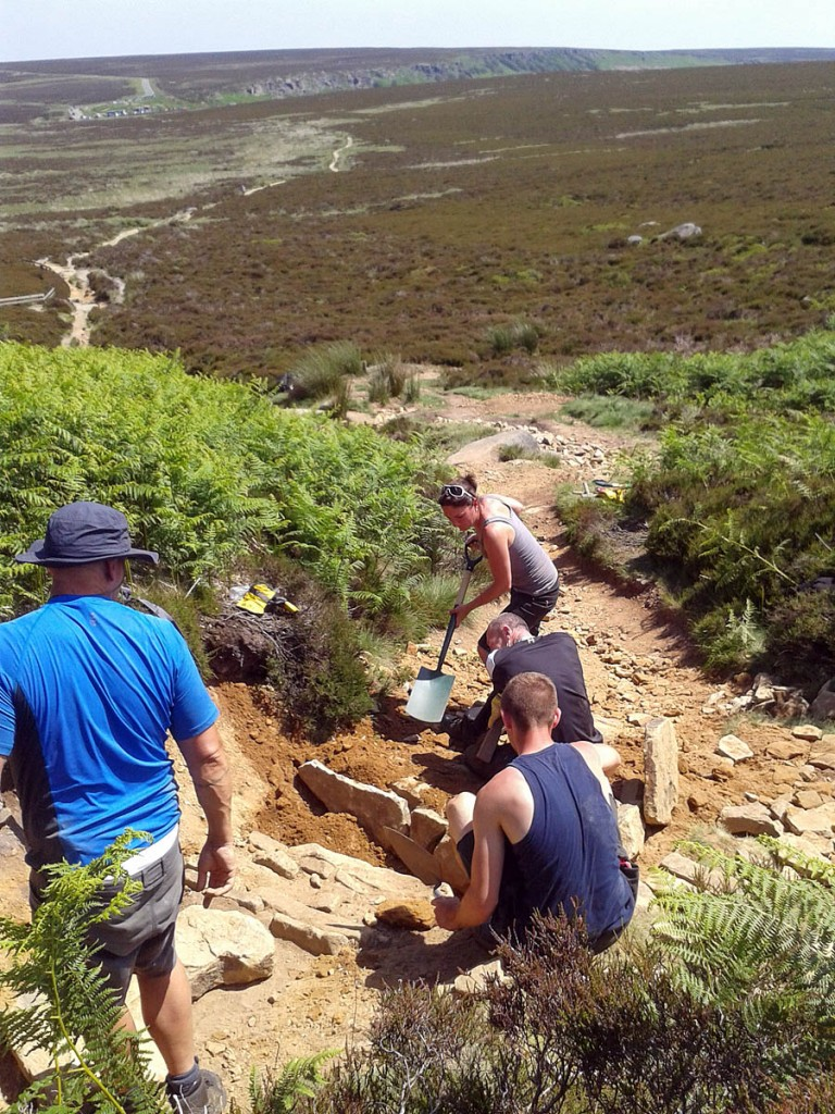 Fit for Work restoration of the footpath at Cowperstone near Stanage