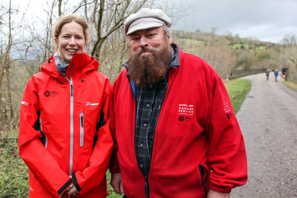 Brian Blessed joins Emma Stone on the Monsal Trail