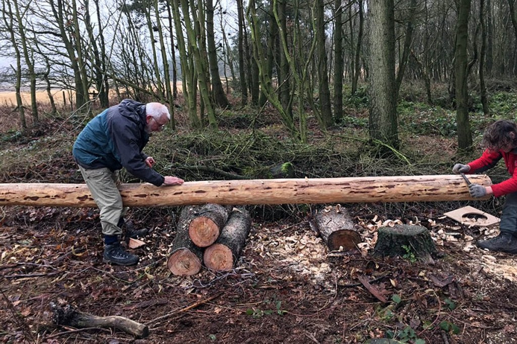 Work on the replacement Stanedge Pole