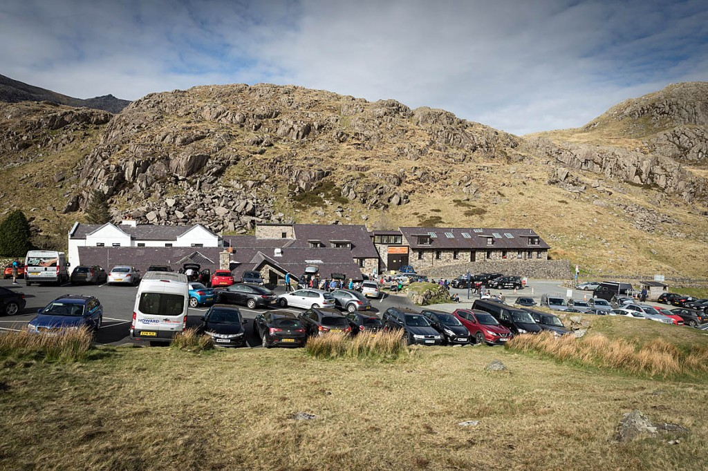 The pair were brought down to Pen y Pass by rescuers. Photo: Bob Smith/grough
