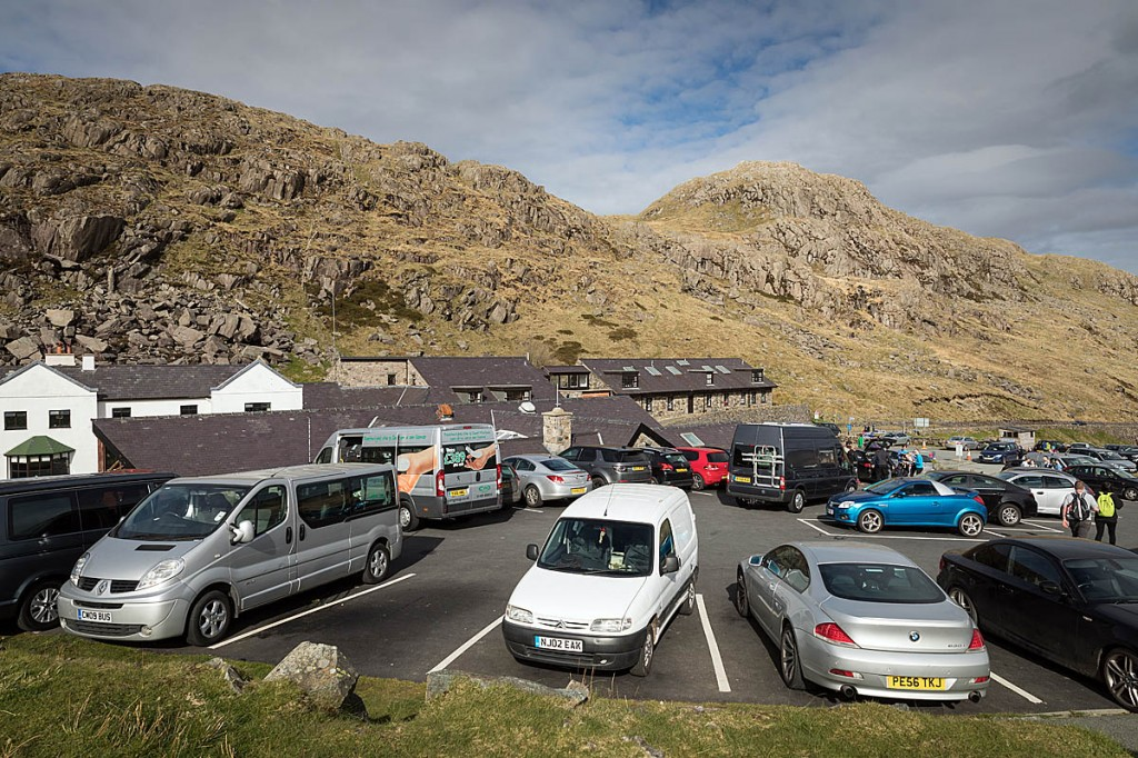 Pen-y-pass car park users will have to pre-book weekend places. Photo: Bob Smith/grough