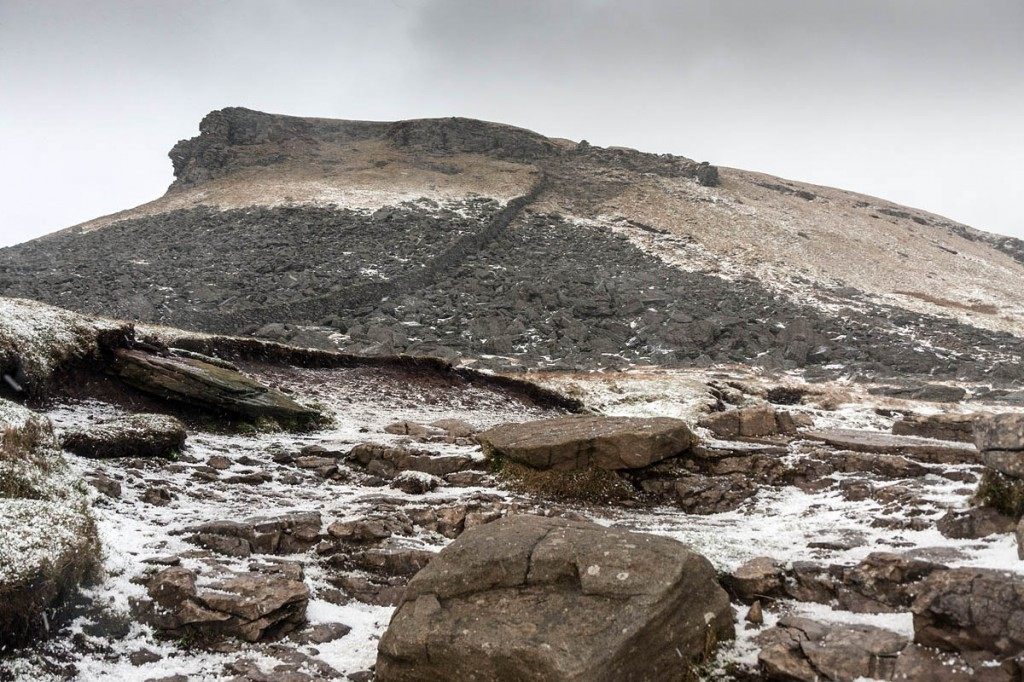 The crags at the southern end of Pen-y-ghent. Photo: Bob Smith/grough