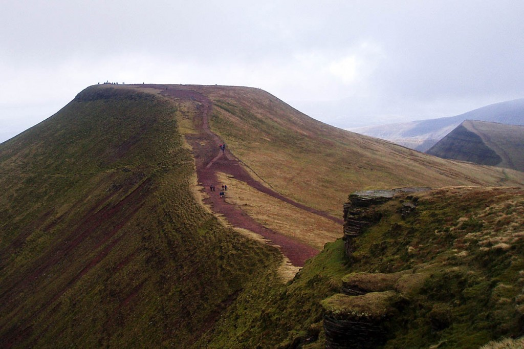 Pen y Fan, seen from Corn Du. Photo: Herby CC-BY-SA-3.0