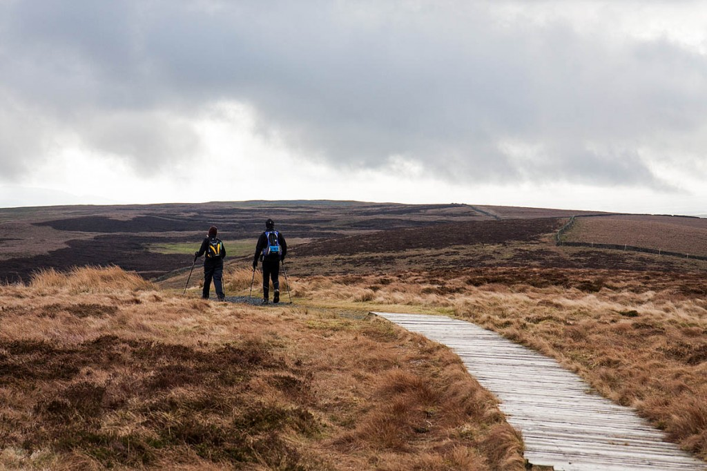 Walkers on the Pennine Way in the Yorkshire Dales