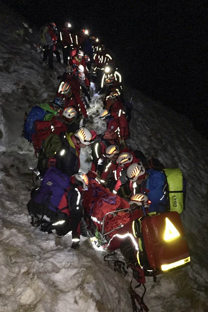The rescue of the fallen team member involved 40 volunteers from three teams. Photo: Penrith MRT