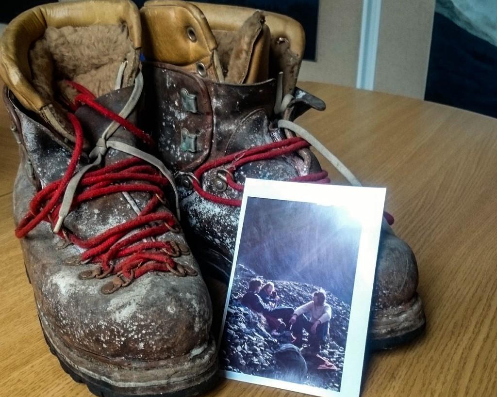 Pete Boardman's boots