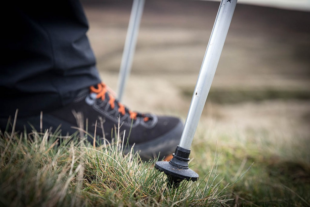 Walking poles will help take the strain off the legs. Photo: Bob Smith/grough