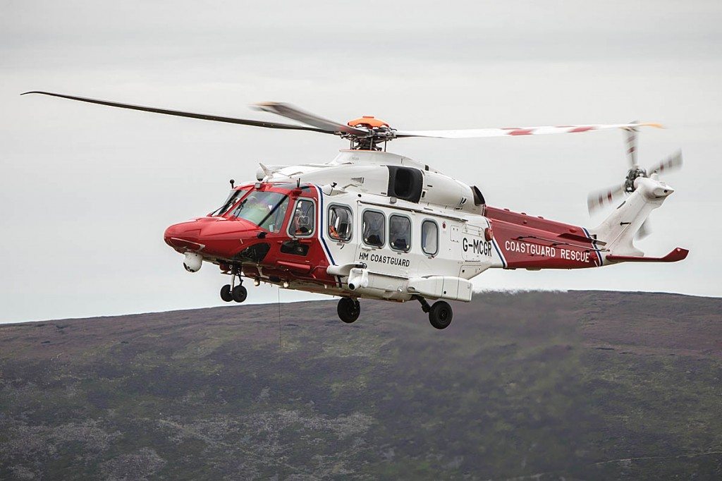 The Coastguard helicopter based at Prestwick. Photo: Bob Smith/grough